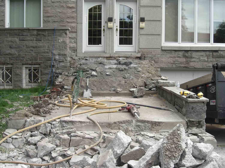 R fection balcon et marches de b ton construction nola - Refection terrasse beton ...