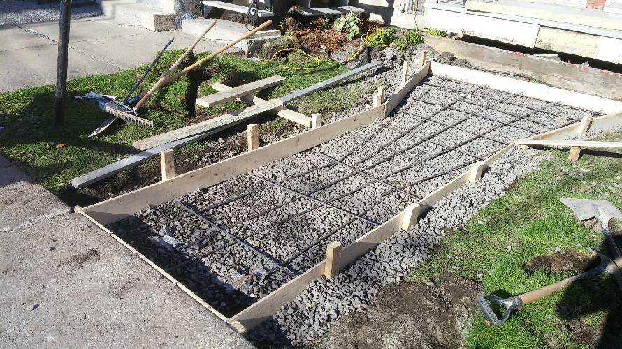 Trottoir de b ton construction nola for Construction garage en beton
