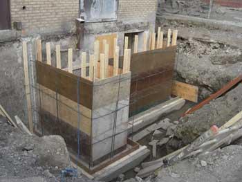 Plancher b ton sous sol plancher b ton garage for Fondation escalier exterieur